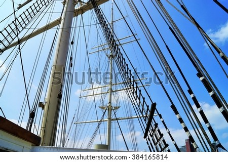 Mainmast of a sailing ship