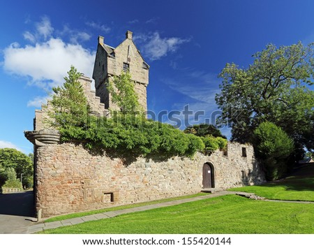 Mains Castle on a sunny day. Dundee,Scotland - stock photo