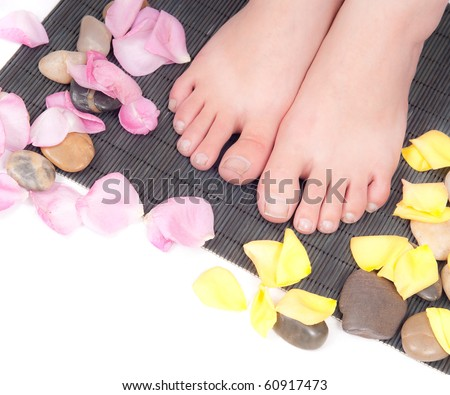 Maintaining Healthy Feet and Nails - stock photo
