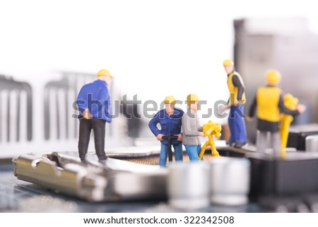 Maintenance and Repair your system concept. - stock photo