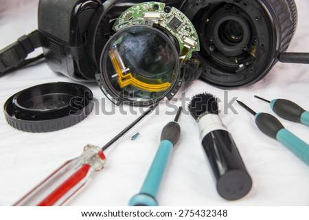 maintenance camera photography - stock photo