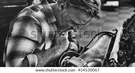 Maintenance Mechanical Tuning Automobile Concept