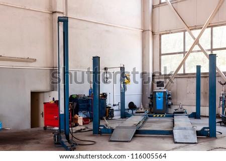 Maintenance of cars - tools, materials, equipment. - stock photo