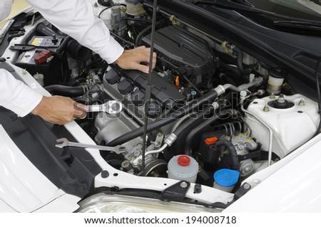 Maintenance of motor vehicles - stock photo