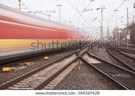 Fast Moving Train Stock Photo 127491602 Shutterstock