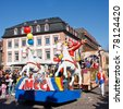 MAINZ, GERMANY - MARCH 7: The Rose Monday Parade (Rosenmontagszug) moves through the city March 7, 2011 in Mainz, Germany. It is the culmination of the annual carnival season. - stock photo