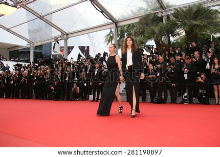 Maiwenn, Emmanuelle Bercot   attend the closing ceremony during the 68th annual Cannes Film Festival on May 24, 2015 in Cannes, France.