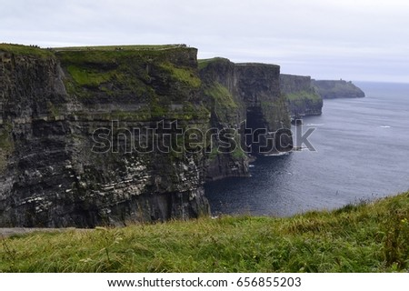 Majestic cliffs in Ireland.