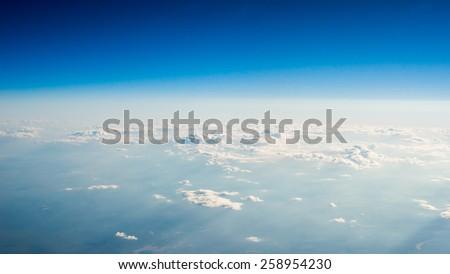 Majestic Heaven Expanse Sky Above Cloud - stock photo