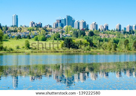 Majestic lake in Vancouver, Canada. - stock photo