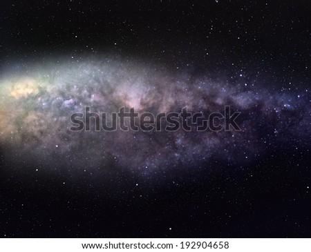 Majestic Milky Way - stock photo