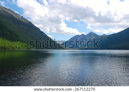 Majestic mountain lake in Altai mountain, Russia - stock photo