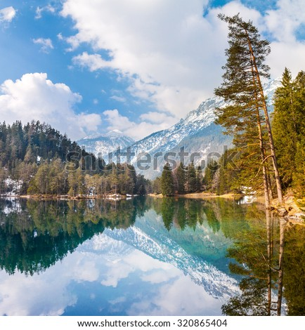 Majestic mountain lake in Fernsteinsee
