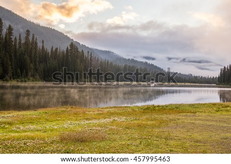 Majestic mountain lake in Manning Park, British Columbia, Canada.