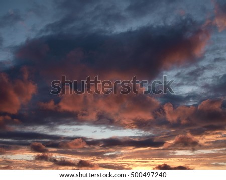 majestic sky in the evening