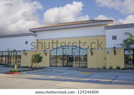 Majestic Vacant Retail Building Ready for Occupancy. - stock photo