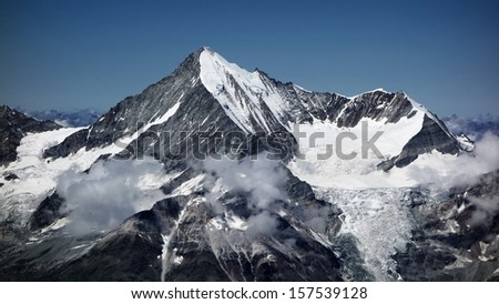 Majestic Weisshorn, Switzerland - stock photo