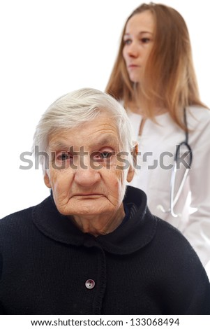 Major depression after the loss of a loved one - stock photo