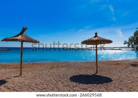 Majorca Cala Bona beach Son Servera Mallorca in Balearic islands of spain - stock photo