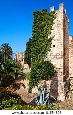 Majorca Island (Spain) : Alcudia Historic downtown - stock photo