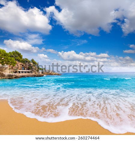 Majorca Playa de Illetas Balneario beach in Mallorca Bendinat Calvia at Balearic islands of spain - stock photo