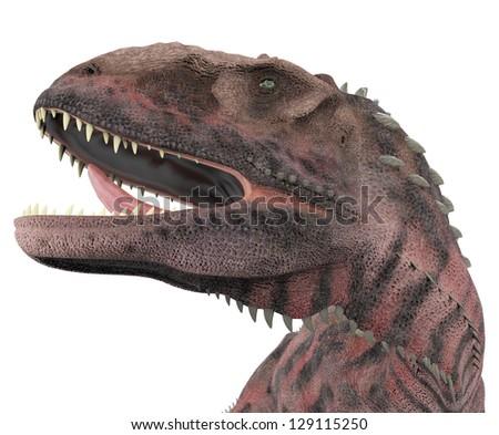majungasaurus portrait - stock photo