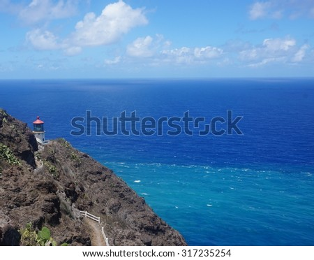 Makapu'u Lighthouse - stock photo