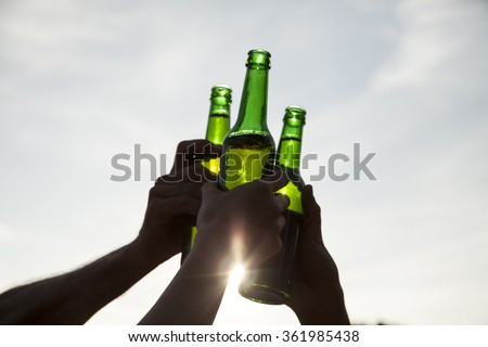 Make a toast - stock photo