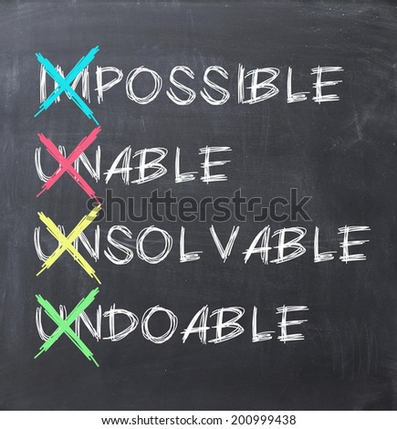 Make it possible concept - stock photo
