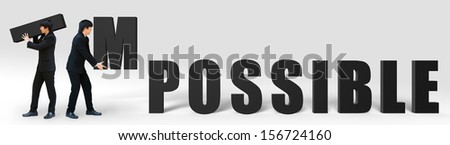 Make it possible motivational concept - stock photo