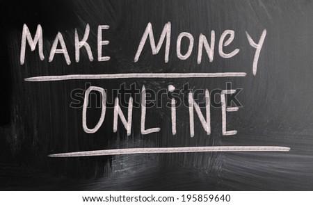 make money online - stock photo