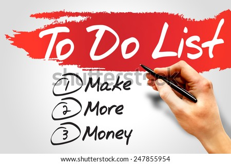 Make More Money in To Do List, business concept - stock photo