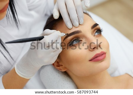 Eyebrows stock images royalty free images vectors for How to make a permanent tattoo