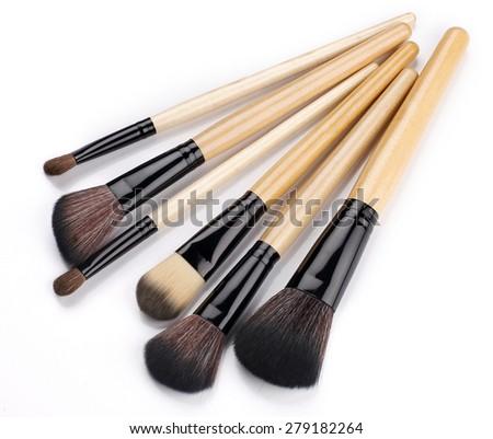 make-up brush - stock photo