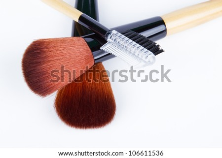 make up brush isolated