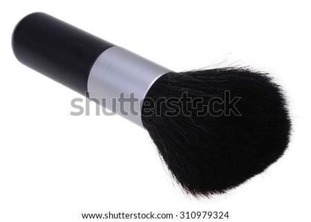 make up brush powder blusher isolated on white background - stock photo