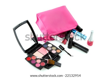make up case fallen with black box