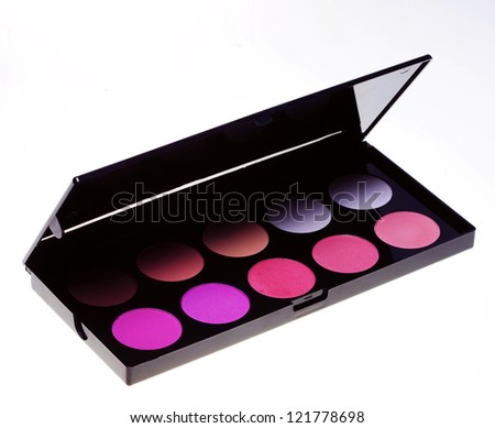 make-up collection. studio shot. - stock photo