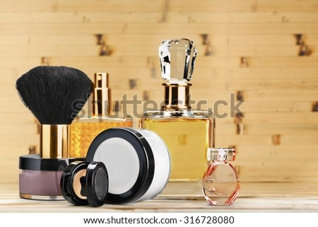 Make-up Cosmetics. - stock photo