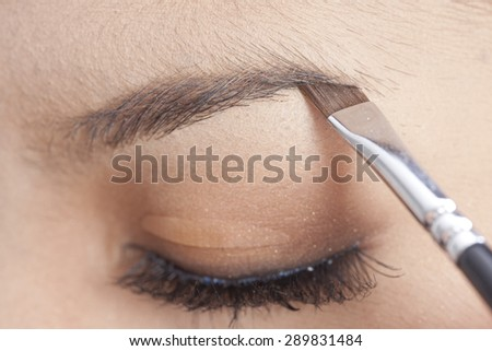 Make-up. Eyebrow Makeup - stock photo