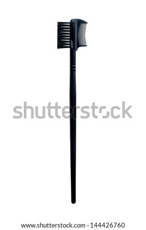 Make up Eyelash & Eyebrow comb with brush 2 black - stock photo