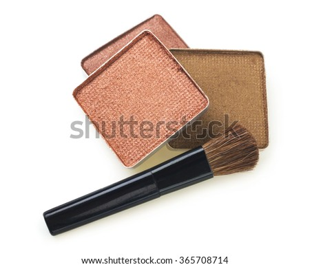 make-up eyeshadows - stock photo