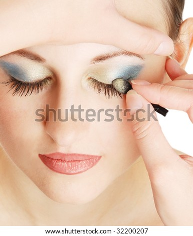 make-up for the young girl