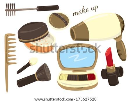 make up kit icon - stock photo