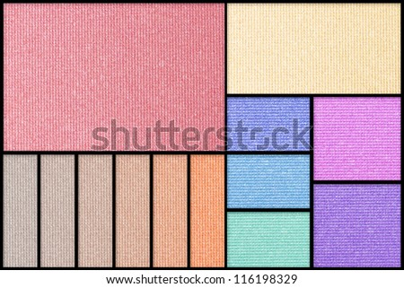 Make up palette of colorful eyeshadow