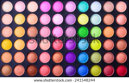 Make up pallet texture - stock photo
