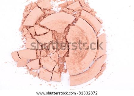 make-up powder - stock photo