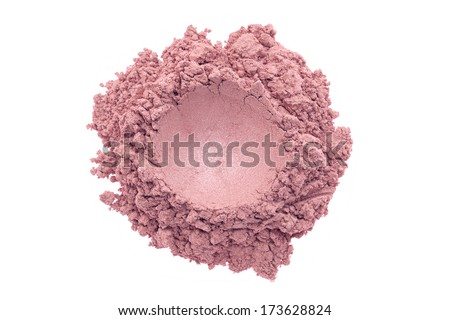 Make up powder isolated on white background - stock photo