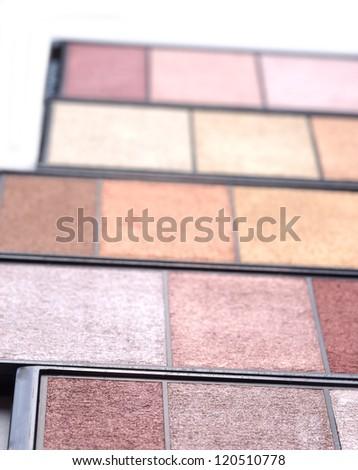 Make up shadows on white - stock photo
