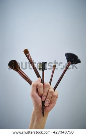 Make up tools - stock photo